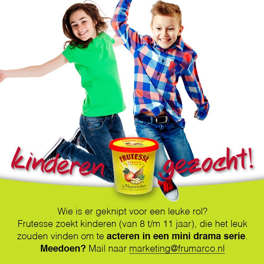 Frutesse zoekt kinderen voor een mini drama serie!