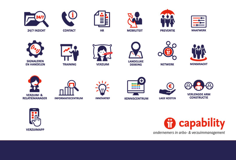Ontwerp nieuwe icon set Capability