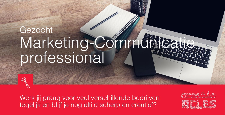 Per direct op zoek naar marketing-communicatie professionals.